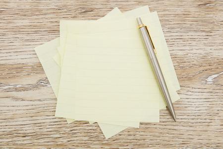 adhesive: Blank adhesive notes