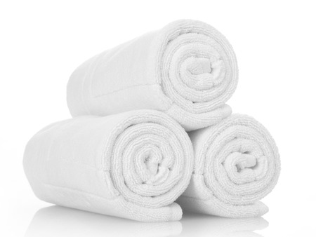 white towels: White towels
