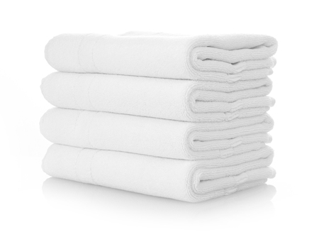 Clean white towels Banque d'images
