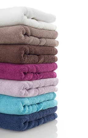 Clean towels close-up Stock Photo
