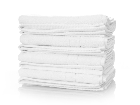 white towels: Clean white towels isolated on white