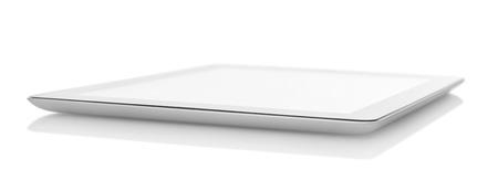 Tablette numérique sur fond blanc