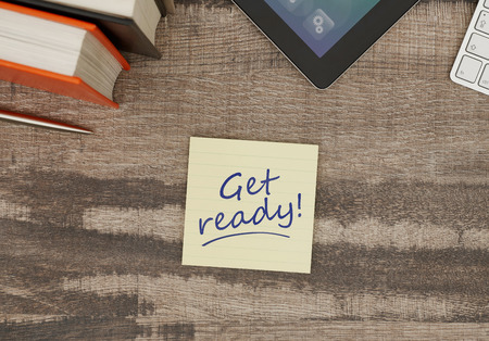 get ready: Get ready! Stock Photo