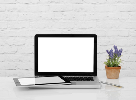 blank tablet: Blank laptop and tablet monitor