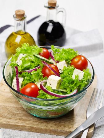 Fresh bowl of salad Stock Photo
