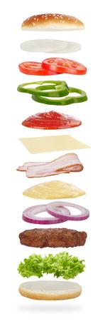 queso blanco: ingredientes de la hamburguesa