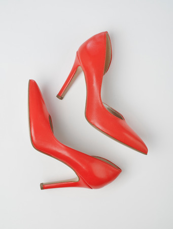 peep toe: High heels view from above Stock Photo