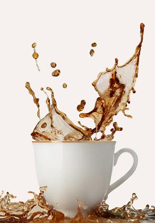 overflowing: Coffee splash