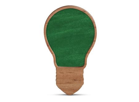 idea bulb: Light bulb blackboard