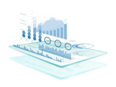 미래 지향적 인 터치 스크린 인터페이스 스톡 콘텐츠 - 65305248