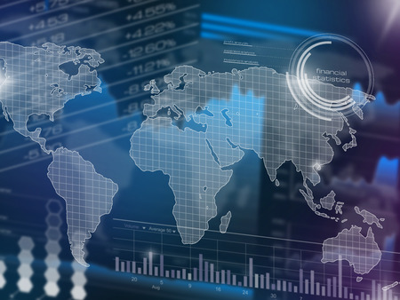 stock chart: Abstract stock market chart