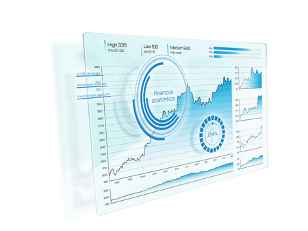 digital display: Futuristic digital display interface