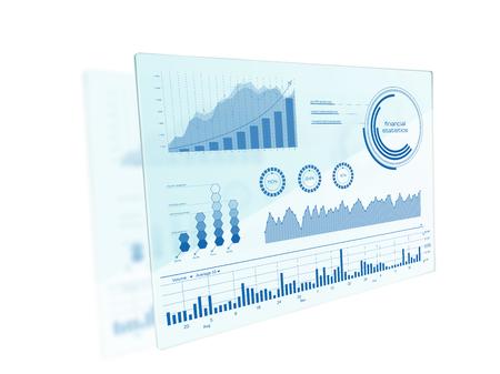interfaz de pantalla táctil futurista