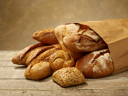 bolsa de pan: Pan fresco en una bolsa