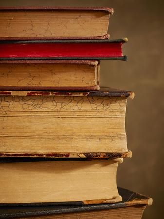 antique books: Antique books close-up
