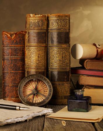 antique books: Antique books still life