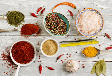rustic: Rustic spices Stock Photo