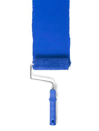 Paint roller isolated on white Standard-Bild