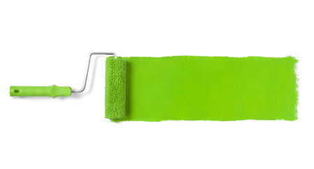 Paint roller isolated on white Banque d'images