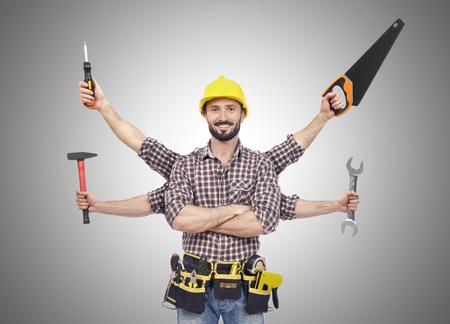 Handyman with tools