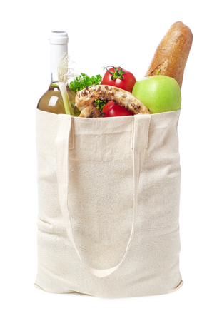 Eco-friendly groceries bag Stock Photo