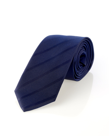 outs: Blue necktie Stock Photo