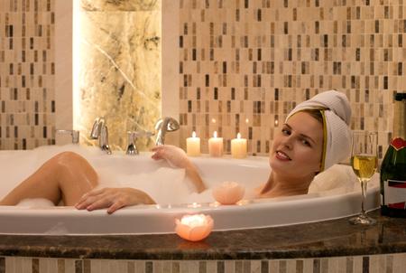 Spa in the bathtub