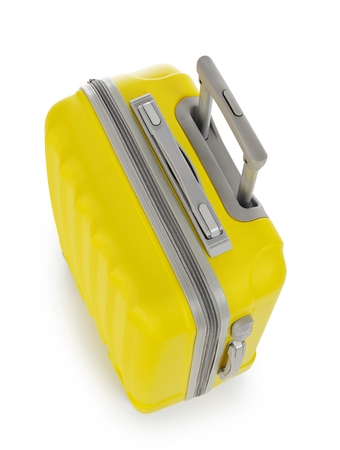 personal accessory: Yellow suitcase