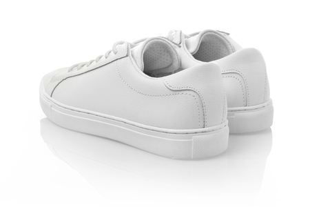 shoelace: White sneakers