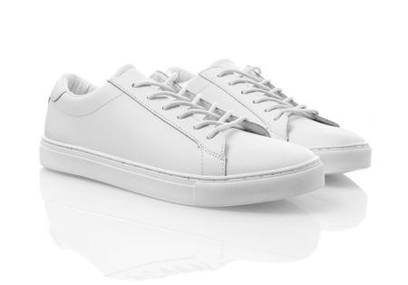 Białe tenisówki Zdjęcie Seryjne