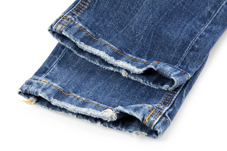 Used jeans Stock Photo