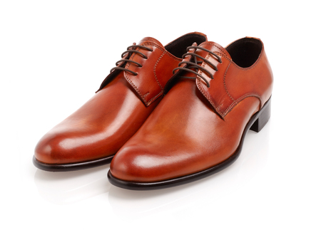 Leather men shoes Stock Photo
