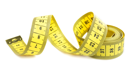 Yellow measuring tape spiral