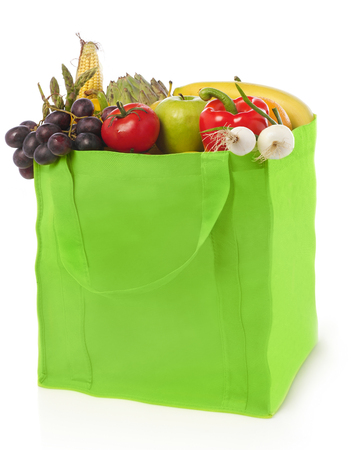 Grocery bag on white