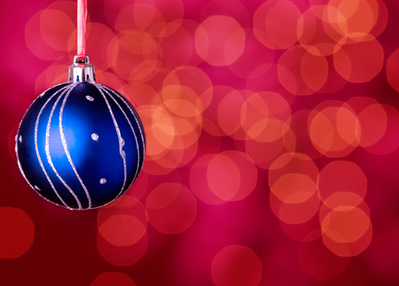 Christmas ball on red Stock Photo