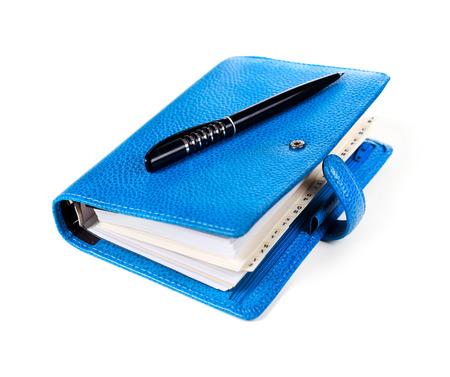 Blue personal organizer