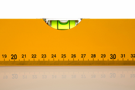 bubble level: Level tool closeup