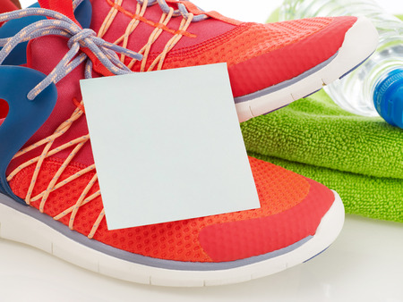 Adhesive note and sport equipment