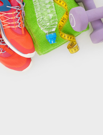 cross: Getting ready for a fitness training Stock Photo