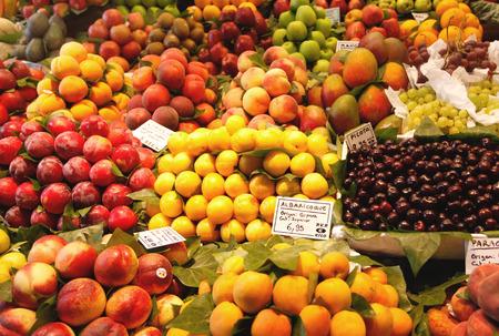 single word: Various fresh fruits