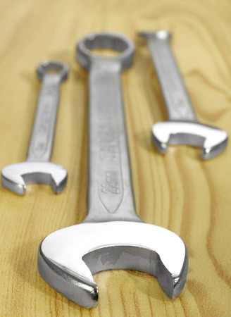 Wrenches on wood