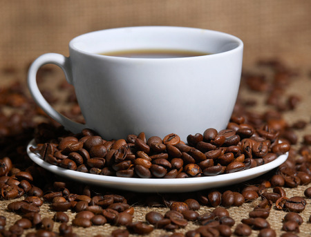Coffee cup and coffee beans Stock fotó