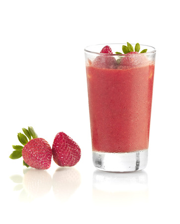 Strawberries smoothie