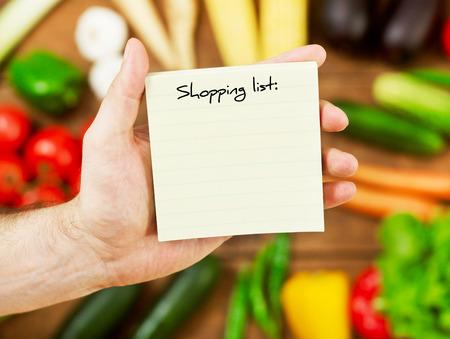 Blank shopping list Stock Photo