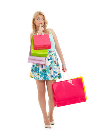Undecided shopping girl