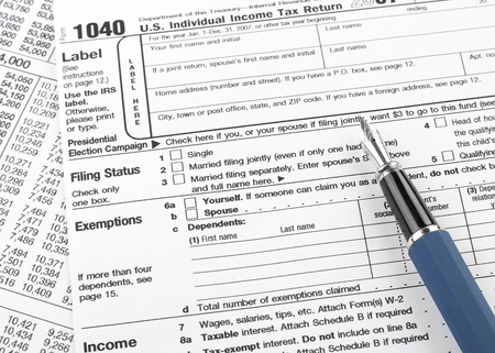 1040 Tax Form Stock Photo Picture And Royalty Free Image Image