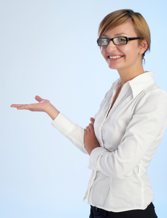 Businesswoman presentation Stock Photo