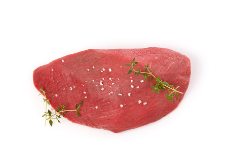 Veal steak with seasoning