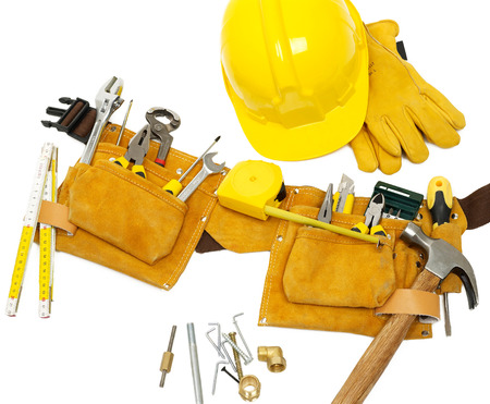 new addition: Tool belt and protection equipment
