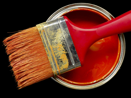 decorating: Paint can and paint brush